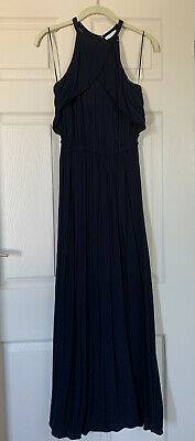 £21.20 • Buy Witchery Frill Neck Maxi Dress In Navy Size 4