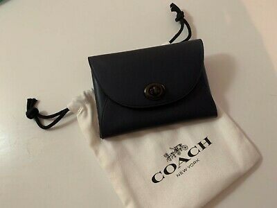 £30 • Buy Coach Card Holder Push Lock Small Leather Goods Purse