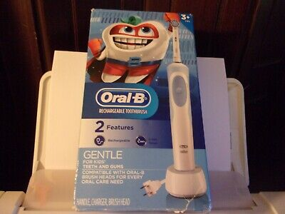AU26.22 • Buy Oral B Rechargeable Toothbrush Gentle For Kids 3+ Years With 2 Min. Timer