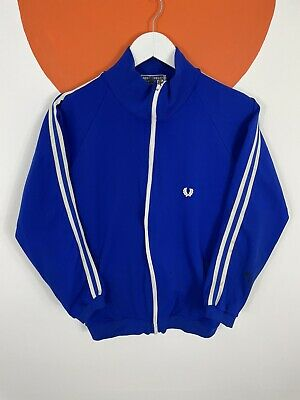 £29.99 • Buy Men's Vintage 80s Fred Perry Track Jacket Tracksuit Top Blue UK Size S Small