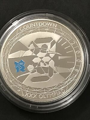 £5 • Buy 'Countdown To London 2012'. 2009 Silver Proof £5 Five Pound Coin. Capsule.
