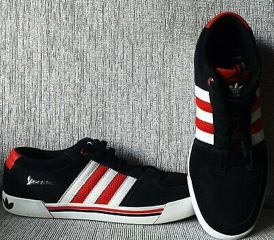 £45.49 • Buy Adidas Vespa Black White & Red Suede & Leather Trainers Size 10.5UK(Mint Cond)