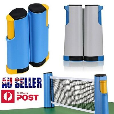 AU21.99 • Buy Table Tennis Kit Ping Pong Set Retractable Net Rack Games Sports Training Indoor
