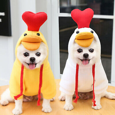 £4.99 • Buy Winter Dog Coats Pet Cat Puppy Chihuahua Clothes Hoodie Warm For Small Dog