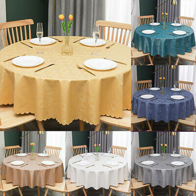 AU22.99 • Buy Waterproof Vinyl Round PVC Oil Proof Table Cloth Cover Kitchen Dining Room PU