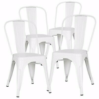 AU95 • Buy A Set Of 4, Navy Chairs, Metal Chairs, Dining Chairs, Restaurant/Beach Chairs, W