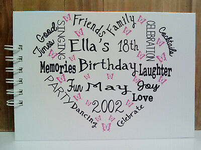 £13.99 • Buy A5 PERSONALISED BIRTHDAY 18th 21st 30th 40th 50th 60th Photo Album Guest Book