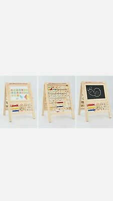 £18 • Buy Double Sided Kids Wooden Easel White Black 2 In1 Magnetic Drawing Board Toy