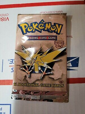 $176.50 • Buy Pokemon 1st Edition Fossil Booster Pack  Zapdos Art Sealed