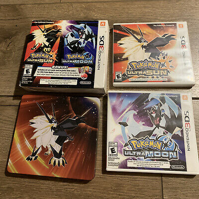$150 • Buy Pokemon Ultra Sun And Ultra Moon Dual Pack And Steel Book Included!!!
