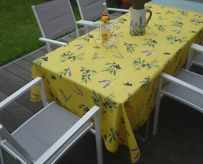 £14.82 • Buy Tablecloth Provence 130x150 CM Olives Yellow France Non-Iron Easy-Care