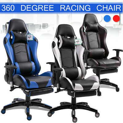 £66.88 • Buy Racing Gaming Chairs Office Executive Recliner PC Computer Desk Swivel Chair NEW