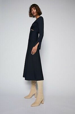 AU428 • Buy SCANLAN THEODORE Crepe Knit Dress Size XS Sold Out Autumn/Winter 21