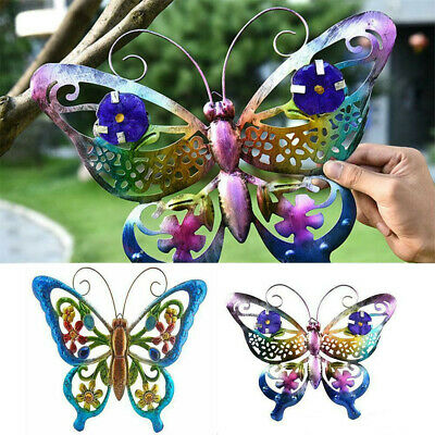 £6.99 • Buy Large Metal Butterfly Garden Decorative Wall Art Fence Sculpture Ornament Gift