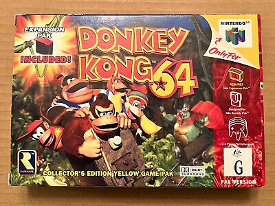AU499 • Buy Donkey Kong 64 Nintendo N64 Collectors Edition Complete And Mint