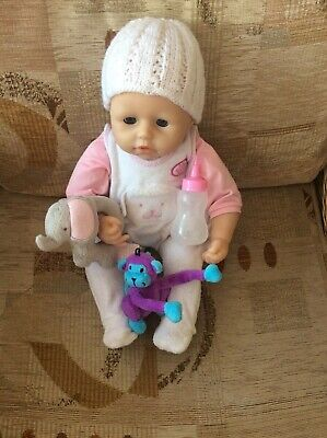 £24 • Buy BABY ANNABELL  Dressed Doll ~ INTERACTIVE  With Bottle  And Cuddle Toys
