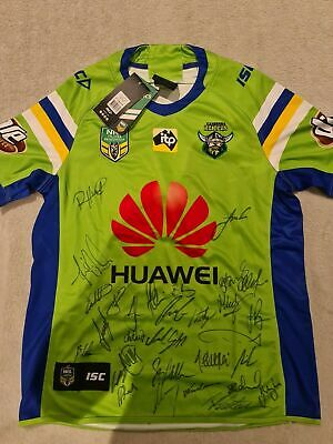 AU192.99 • Buy SIGNED 2018 Canberra Raiders NRL Rugby League Jersey NEW