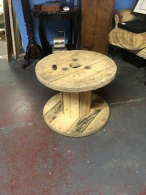 £20 • Buy Small Wooden Cable Reel / Drum / Spool Upcycled Industrial 60 Cms Wide 47 High