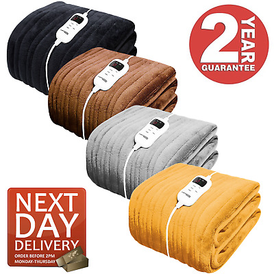 £39.95 • Buy Heated Throw Electric Over Blanket - Various Colours Available