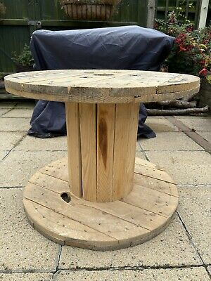 £60 • Buy 1 X Cable Drum, Table, Lounge Table, Patio Table, Up Cycled Drum, Wooden Drum
