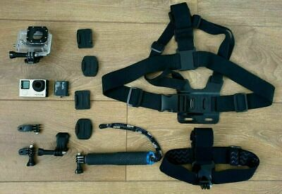 AU213.26 • Buy GoPro Hero 4 Black Edition + Accessories Bundle - With Free Insured Delivery