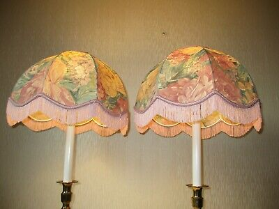 £34.99 • Buy Pair Of Vintage Mid Centuary Downtown Abbey Style Table Lamp Shades
