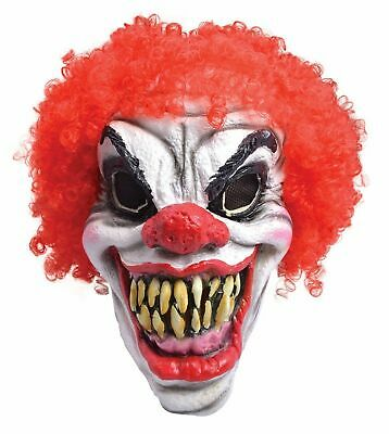 £10.95 • Buy SCaRy Clown Mask With Hair Evil Halloween Fancy Dress Unisex Adult Mens & Ladies