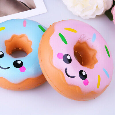AU20.39 • Buy NEW AU 11cm Lovely Doughnut Cream Scented Squishy Slow Rising Squeeze Toys 2PCS