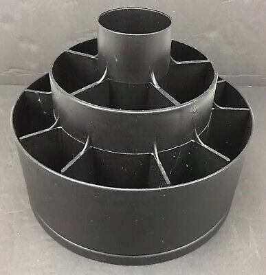 AU73.43 • Buy Pampered Chef Turn-About Carousel Utensil Tool Caddy Holder Black Spinner USA