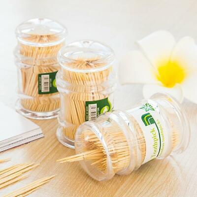 £2.99 • Buy 300Pcs Disposable Two Heads Bamboo Wooden Toothpicks Wood Stick With Holder