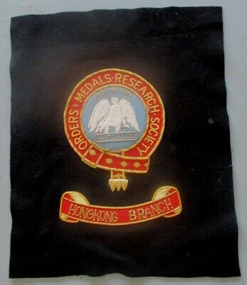 £28 • Buy Orders And Medals Research Society Hong Kong Branch Embroidery