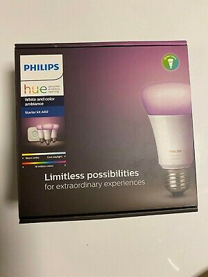 AU189 • Buy *BRAND NEW* Philips Hue White And Colour Ambiance E27 Bulb Starter Kit