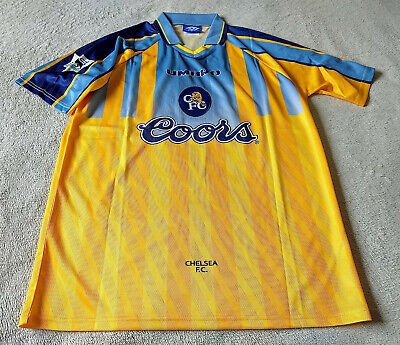 £65 • Buy Chelsea FC Retro 1996/97 Away Jersey Zola 25 Size XL Condition A1