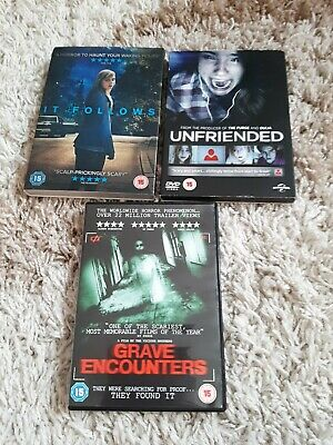 £1 • Buy Set Of 3 Horror Movies DVDs