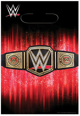 £5.08 • Buy WWE Champion Folded Loot Bags~WWE Smash Birthday Party Favor Or Gift Bags ~ 8ct.