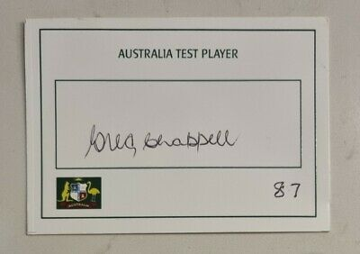 AU35 • Buy Greg Chappell Test Cricket Signed In Person  Test Player Card Australia