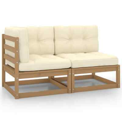 AU281.42 • Buy 2 Piece Garden Lounge Set With Cushions Honey Brown Pinewood