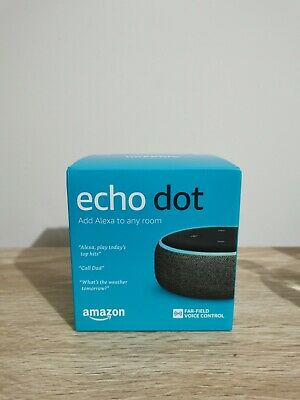AU22 • Buy Amazon Echo Dot (3rd Generation) Smart Assistant - Charcoal Fabric - BRAND NEW