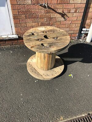 £20 • Buy Small Wooden Cable Reel / Drum / Spool Upcycled Industrial 60 Cms Wide 50 High