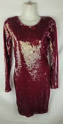 AU45 • Buy ASOS Red Sequin Cocktail Dress Low Back Size 8