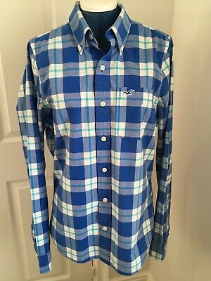 £1.99 • Buy Hollister Mens Blue Check Shirt - Size M - Pre Owned