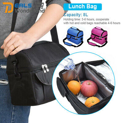 AU16.99 • Buy 8L Insulated Thermal Cooler Lunch Box Food Picnic Tote Kids Meal Prep Bag