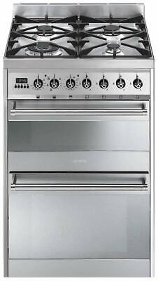 £475 • Buy Smeg SY62MX8 Dual Fuel Free Standing Cooker In Stainless Steel 60cm/600mm Wide