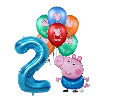 £8.99 • Buy PEPPA PIG GEORGE BALLOONS 2nd Birthday Party 7 Piece Set  Foil Kids