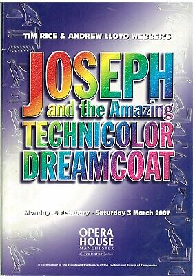 £3 • Buy Joseph And The Amazing Technicolor Dreamcoat Theater Programme 2007 Manchester