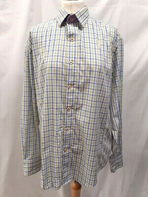 £9.99 • Buy Robert Graham Shirt 100% Cotton Check Stripped Men's Size L Pre-owned