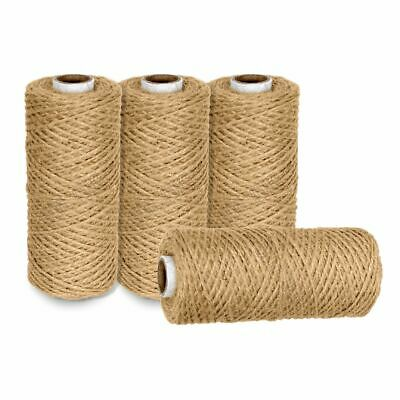 £1.49 • Buy 10m-1000m 2 Ply Natural Brown Soft Jute Twine Sisal String Rustic Cord Shabby