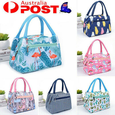 AU12.62 • Buy Portable Thermal Insulated Cooler Bento Lunch Bag Tote Family Travel Picnic Box
