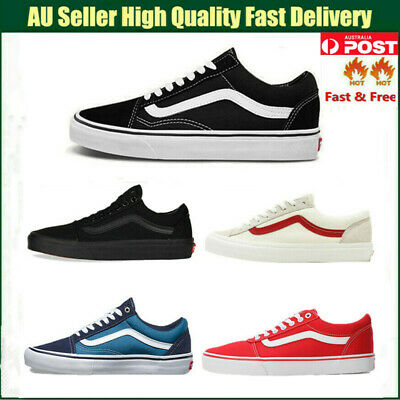 AU32.80 • Buy Mens Womens VAN Classic OLD SKOOL Low Top Canvas Sneakers Shoes Casual ALL SIZE