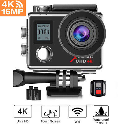 AU69.99 • Buy Campark ACT76 Action Camera 4K UHD WiFi Sports Cam DV Camcorder Waterproof GoPro